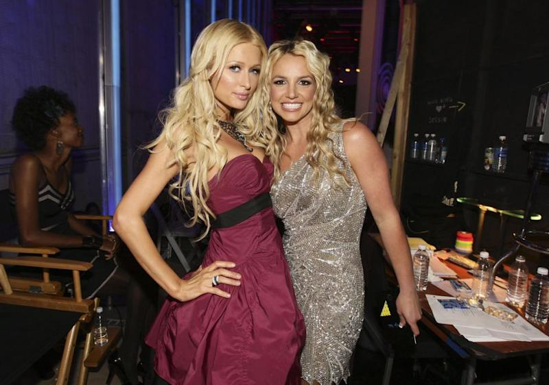 Paris, seen here with Britney in 2008, has been busy posting lots of #throwbacks. Source: Getty