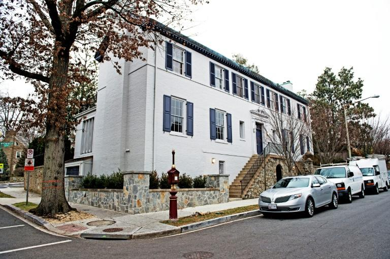 House where Ivanka Trump and her family live in Washington, DC, Kalorama neighborhood