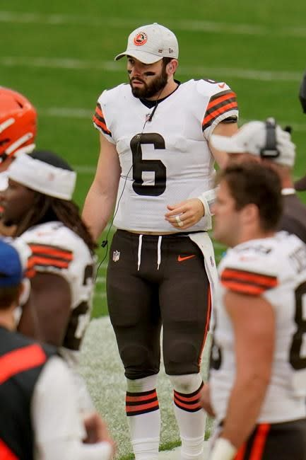 Mayfield, Browns bullied, battered in 38-7 loss to Steelers