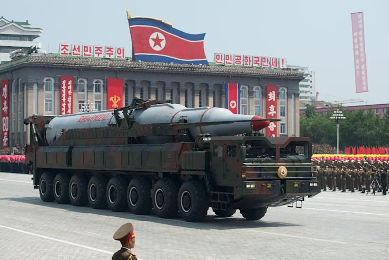 Tensions have soared on the Korean peninsula since Pyongyang tested an atomic device and launched a long-range rocket -- which was widely seen as a disguised ballistic missile test (AFP Photo/Ed Jones)