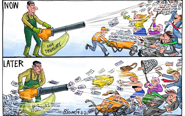 Cartoonist Blower's take on the Budget