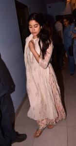 Dhadak actress Jhanvi Kapoor arrives at the special screening of 'Beyond the Clouds' in Mumbai on April 18, 2018. (Image: Viral Bhayani)