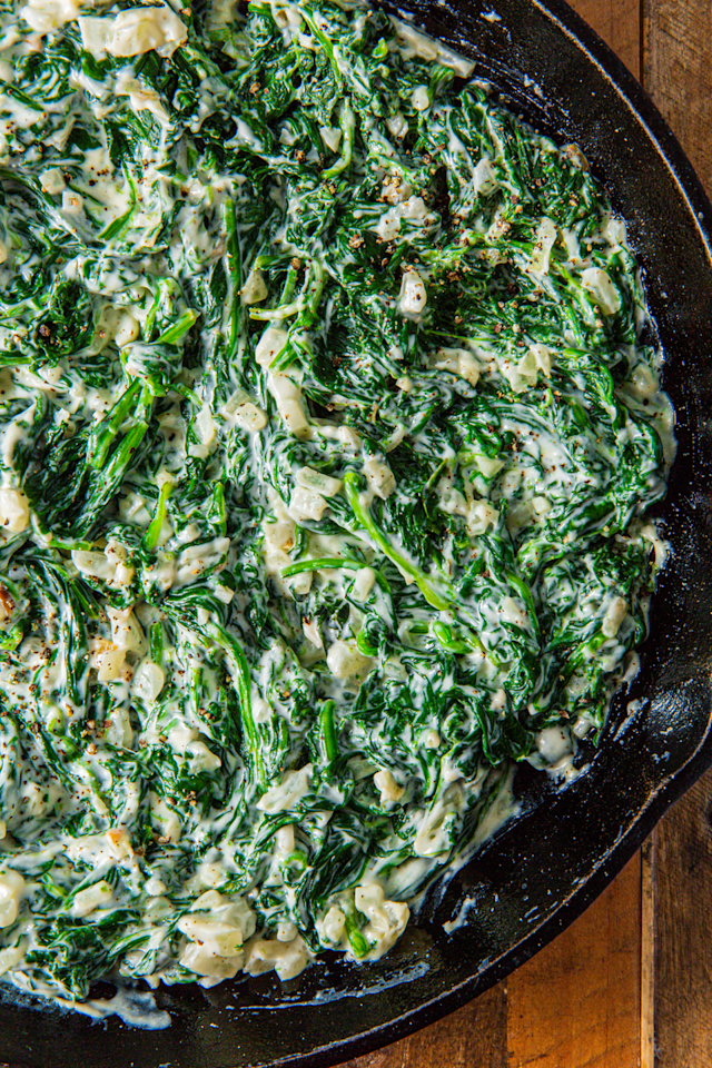 "<p>It tastes SO indulgent.</p><p>Get the recipe from <a href=""https://www.delish.com/cooking/recipe-ideas/a28510710/easy-creamed-spinach-recipe/"" target=""_blank"">Delish</a>.</p>"