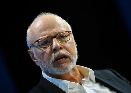 FILE PHOTO: Paul Singer, founder and president of Elliott Management Corporation, speaks at WSJD Live conference in Laguna Beach, California, U.S., October 25, 2016.     REUTERS/Mike Blake