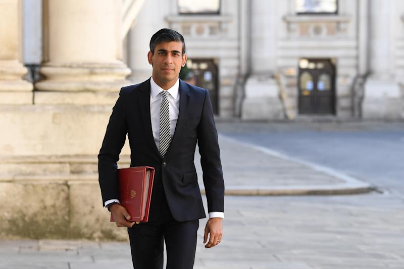 Chancellor of the Exchequer Rishi Sunak arrives at the Foreign and Commonwealth Office (FCO) in London, ahead of a Cabinet meeting to be held at the FCO, for the first time since the lockdown.