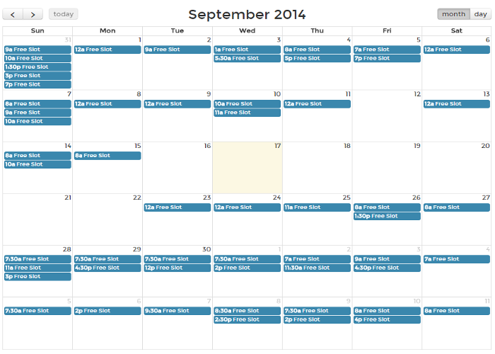 Month Planned Using Temploy(Image from: Temploy)