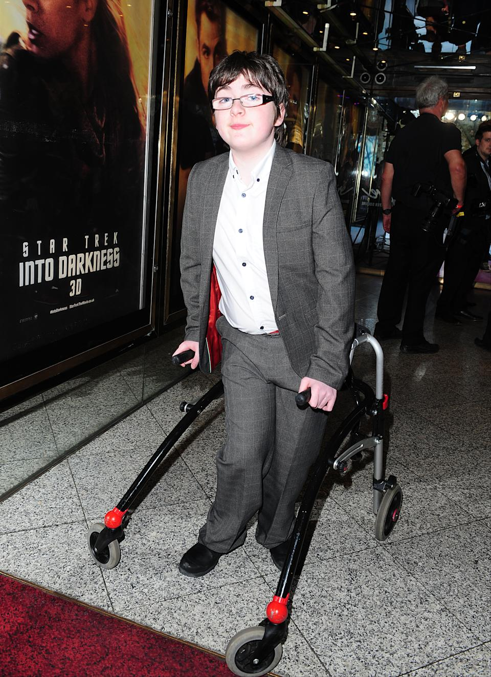 Britain's Got Talent contestant Jack Carroll arriving for the premiere of Star Trek Into Darkness at the Empire Leicester Square, London.   (Photo by Ian West/PA Images via Getty Images)