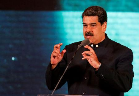FILE PHOTO: Venezuela's President Nicolas Maduro speaks at a meeting for re-branding the country abroad, in Caracas, Venezuela February 11, 2019. REUTERS/Manaure Quintero