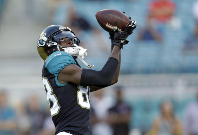 Allen Hurns (pictured) and Marqise Lee are each looking at a big bump in usage, now that Allen Robinson has been lost for the season. (AP Photo/John Raoux)