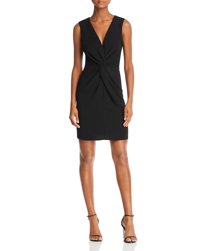 "<p><strong>AQUA</strong></p><p>bloomingdales.com</p><p><strong>$61.60</strong></p><p><a rel=""nofollow"" href=""https://www.bloomingdales.com/shop/product/aqua-twist-front-sheath-dress-100-exclusive?ID=3097901"">SHOP NOW</a></p><p>You can never go wrong with a <a rel=""nofollow"" href=""https://www.womansday.com/style/fashion/g1011/how-to-wear-a-little-black-dress/"">little black dress</a>. This Bloomingdales exclusive has a front twist detail that adds dimension to an otherwise basic sheath. Keep it simple with a pair of black heels.</p><p><strong>What you'll need: </strong>Sam Edelman Ariella Strappy Sandal Heel ($70, <a rel=""nofollow"" href=""https://www.zappos.com/p/sam-edelman-ariella-strappy-sandal-heel-black-kid-suede-leather/product/9027846/color/300922?ef_id=W7ubqQAAAHKGCEyZ:20181101194422:s&utm_medium=pla_g&utm_campaign=760768311&utm_term=pla-400084190331&utm_source=google"">zappos.com</a>)</p>"