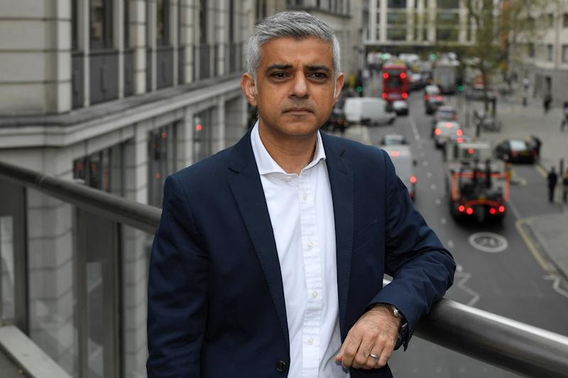 Going forward: Sadiq Khan has announced plans to reduce emissions: Reuters