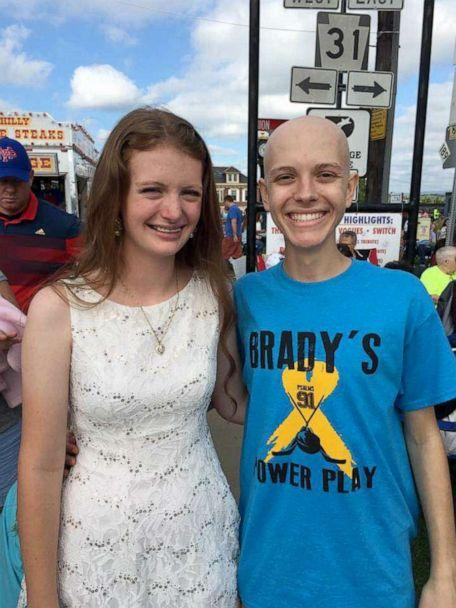 PHOTO: Brady Hunker and Mollie Landman during a charity event. (Mollie Landman)