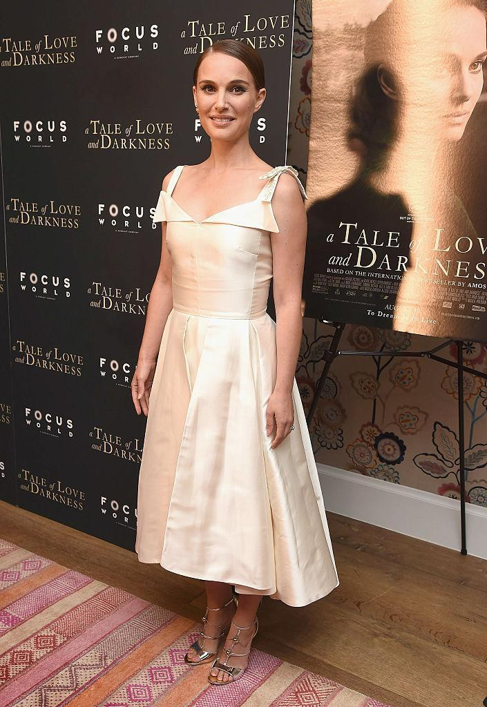 <p>A simple Audrey Hepburn-esque fit-and-flare dress brought into the 21st century with bow-tied straps and capping above the bust. <i>(Photo by Gary Gershoff/WireImage)</i></p>