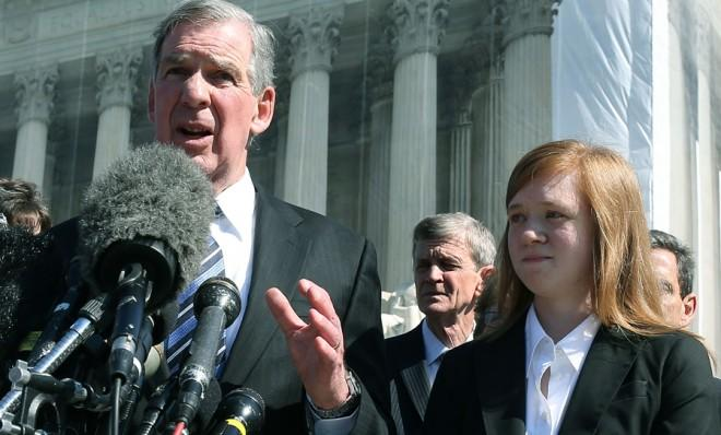 Abigail Noel Fisher (right), the young Texan woman at the center of one of the Supreme Court's affirmative action cases.