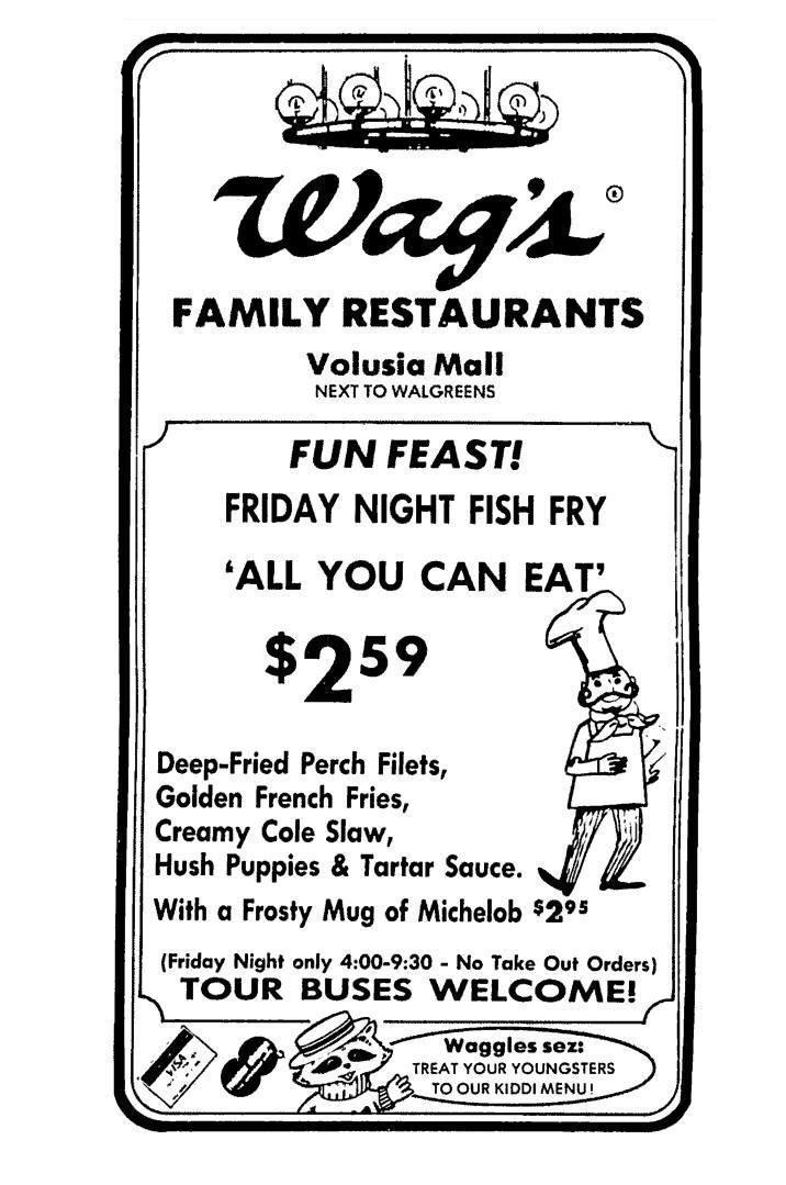 <p>You know supermarket giant Walgreens, but have you heard of Wag's? It was a casual dining, 24-hour chain owned and operated by Walgreens back in the '70s and '80s. But after selling off a bunch of locations, the chain officially became defunct around the 90s.</p>
