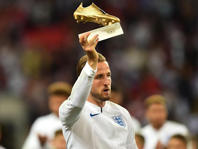 Harry Kane won the Golden Boot at the 2018 Fifa World Cup after finishing as the leading goalscorer: Getty