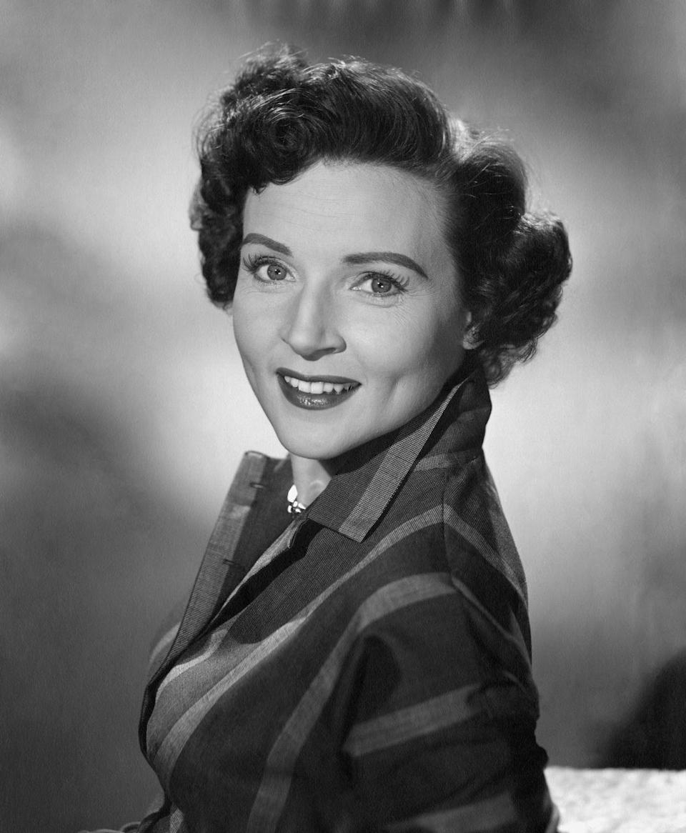 """<p>In 1952, <em>Life with Elizabeth </em>premiered, which <a href=""""https://www.britannica.com/biography/Betty-White"""" rel=""""nofollow noopener"""" target=""""_blank"""" data-ylk=""""slk:centered around Betty"""" class=""""link rapid-noclick-resp"""">centered around Betty</a> playing a 1950s housewife who gets into comedic hi-jinks each episode. She also served as a co-creator and producer on the show.</p>"""