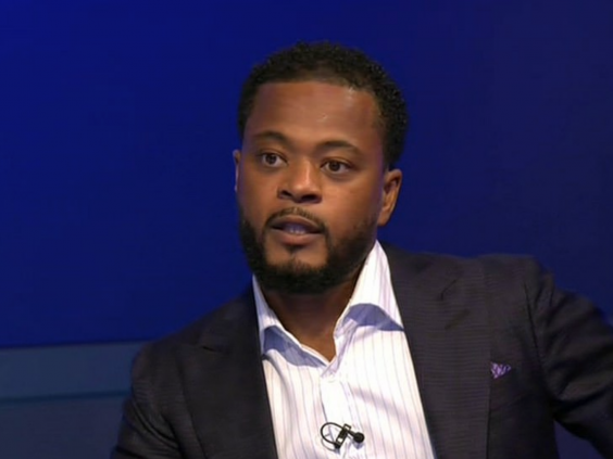 Patrice Evra was seen without the Black Lives Matter badge (Sky Sports)