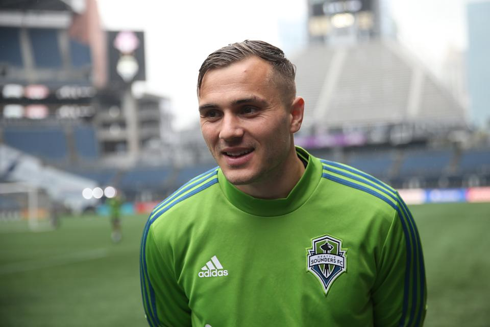 Jordan Morris's smile will be a lot bigger if he helps his hometown Seattle Sounders to another MLS Cup title over Toronto FC on Sunday. (Omar Vega/Getty)