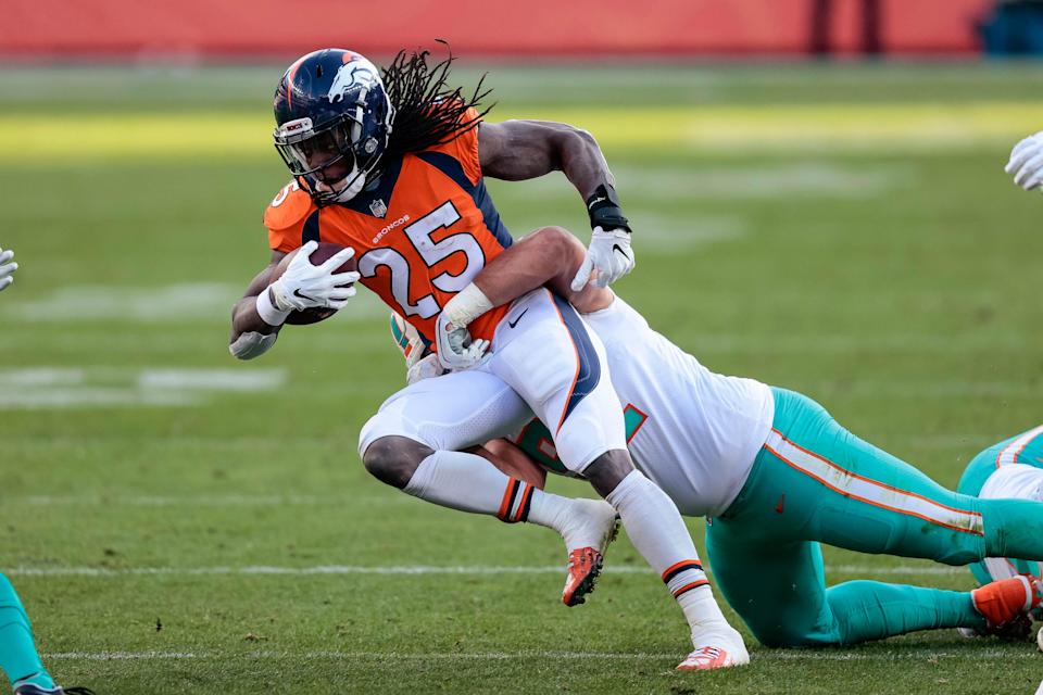 In his first season with the Broncos, Melvin Gordon rushed for 986 yards and nine touchdowns.