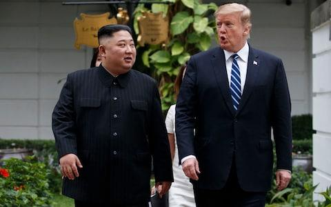 President Trump's summit with Kim Jong-un started out well but ended abruptly - Credit: Evan Vucci/AP