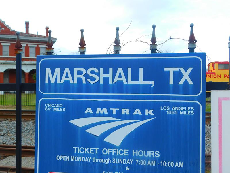 The train station in Marshall, Texas. Credit: Adam Moss/Flickr