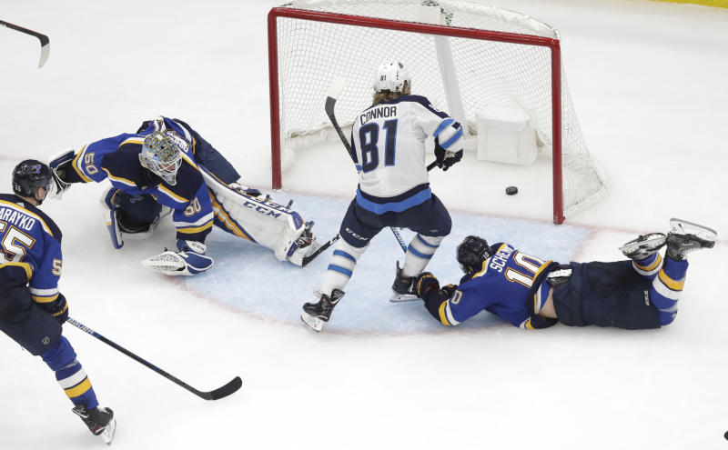 Jets bounce back with 6-3 win over Blues