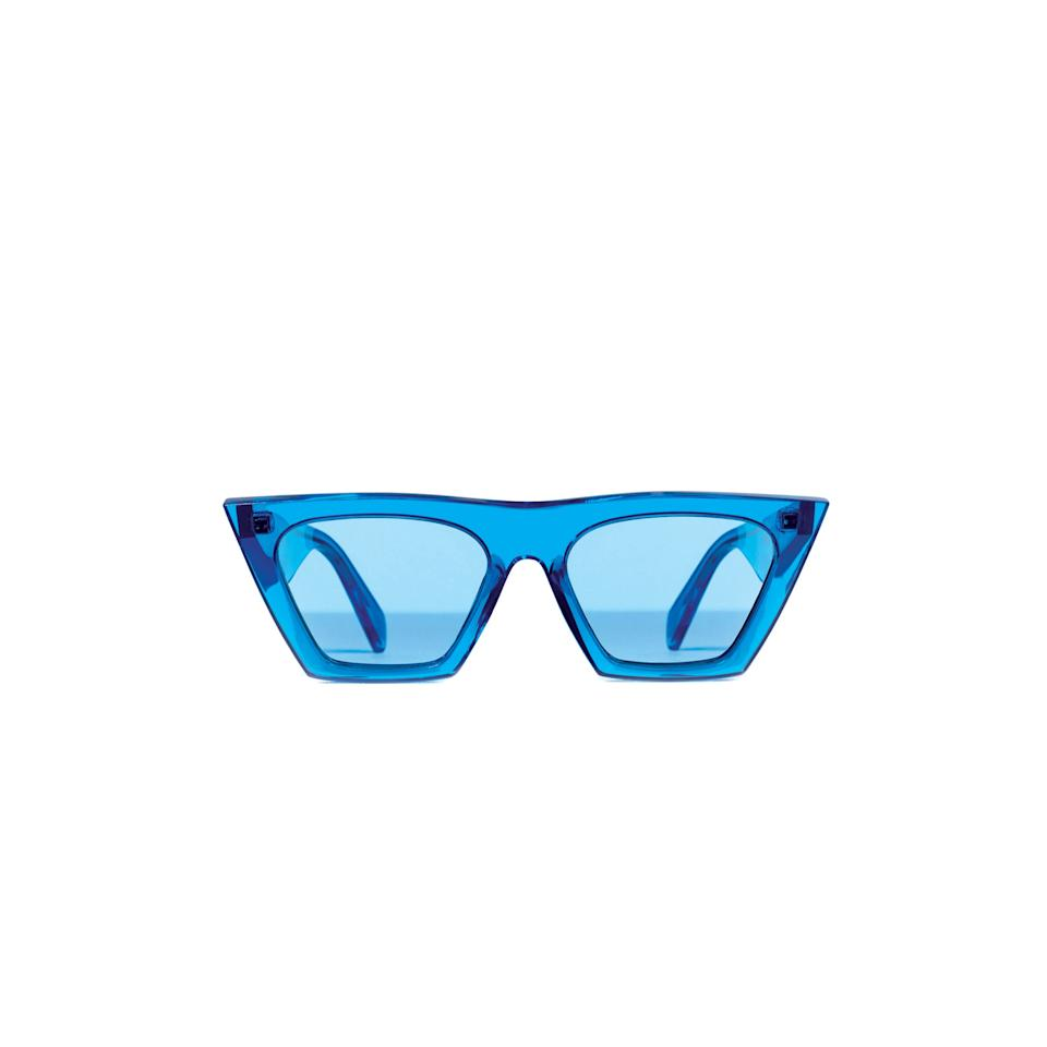 <p>Celine blue-tinted sunglasses, available May 2017 at Solstice Sunglasses, call 866.280.7620 or visit solsticesunglasses.com.</p>
