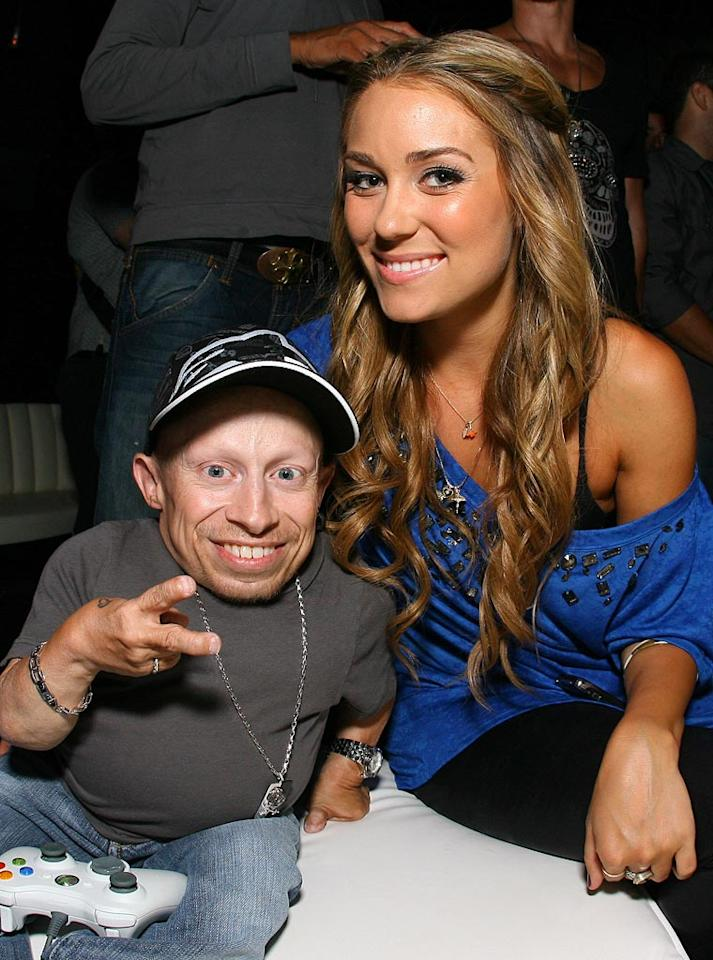"""Surreal Life"" season 4 star Verne Troyer and ""Hills"" hottie Lauren Conrad get cozy at the star-studded party. Michael Tran/<a href=""http://www.filmmagic.com/"" target=""new"">FilmMagic.com</a> - August 7, 2008"