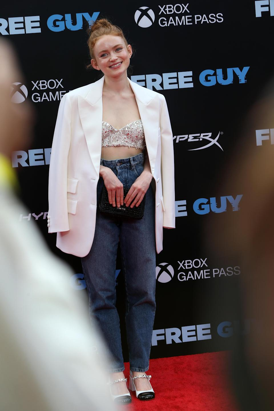 """Sadie Sink attends the premiere of """"Free Guy"""" at AMC Lincoln Square Theater in New York, NY on August 03, 2021. - Credit: Lexie Moreland for Variety"""