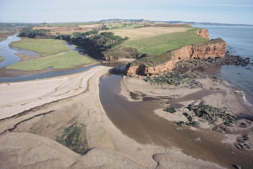 The River Otter valley from above at the coast