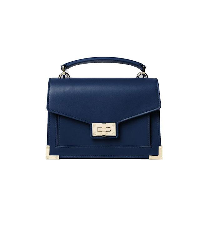 "<p>Iconic Emily Bag Mini Version in Midnight Blue, $375, <a href=""http://www.thekooples.com/us/iconic-emily-bag-mini-version-midnight-blue-1402227.html"" rel=""nofollow noopener"" target=""_blank"" data-ylk=""slk:thekooples.com"" class=""link rapid-noclick-resp"">thekooples.com</a> </p>"
