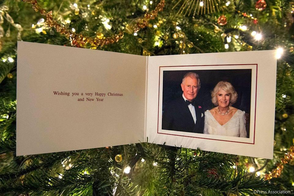 <p>2017's official Christmas card from the Prince of Wales and Duchess of Cornwall features a photograph taken by Hugo Burnand during Camilla's private 70th birthday party.</p>