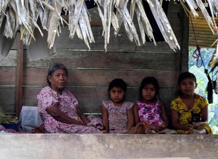 Indigenous people from the Altos del Terron community have been left traumatized by the brutal murders (AFP Photo/Luis ACOSTA)