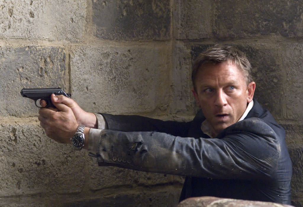 """9. <a href=""""http://movies.yahoo.com/movie/1809961074/info"""">QUANTUM OF SOLACE</a>  Total Gross: $166,800,000    Picking up where 2006's """"Casino Royale"""" left off, Daniel Craig returned to action as 007 and raked in a cool sum in ticket sales, making James Bond the second most successful movie franchise behind """"Star Wars."""""""