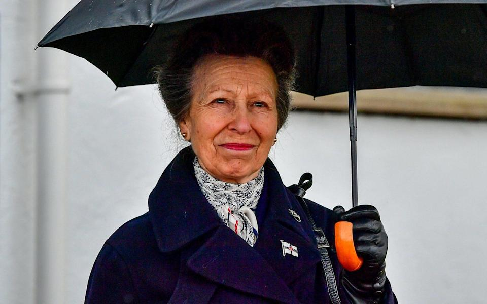 The Princess Royal at the Royal Victoria Yacht Club on the Isle of Wight - PA