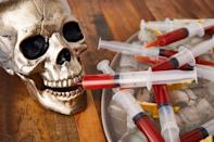 """<p>Fill food-safe syringes with Bloody Mary mix to satisfy the vampires coming to your party.</p><p><em>Get the recipe from <a href=""""https://www.delish.com/cooking/recipe-ideas/a24132876/bloody-mary-syringes-recipe/"""" rel=""""nofollow noopener"""" target=""""_blank"""" data-ylk=""""slk:Delish"""" class=""""link rapid-noclick-resp"""">Delish</a>.</em></p><p><strong>What you'll need</strong>: <a href=""""https://www.amazon.com/Jello-Syringe-Shots-Alcohol-Halloween/dp/B01CDAYW08/ref=sr_1_7?s=kitchen&ie=UTF8&qid=1539873598&sr=1-7&keywords=syringes+for+jello+shots&tag=syn-yahoo-20&ascsubtag=%5Bartid%7C10070.g.2468%5Bsrc%7Cyahoo-us"""" rel=""""nofollow noopener"""" target=""""_blank"""" data-ylk=""""slk:Food-safe syringes"""" class=""""link rapid-noclick-resp"""">Food-safe syringes</a> ($30 for a pack of 25, amazon.com)</p>"""