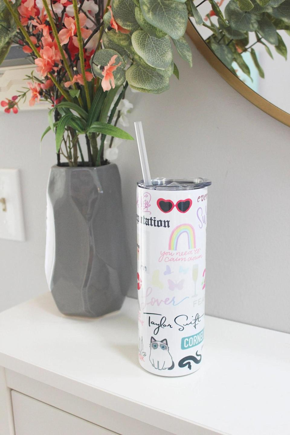 """<p>Get them something they'll use every day, like this <span>Taylor Swift Era Coffee Tumbler</span> ($29). It's perfect for the one who's been through it all from """"You Belong to Me"""" to """"Evermore.""""</p>"""