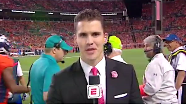 New 'Monday Night Football' Reporter Suffers Intense Stage Fright
