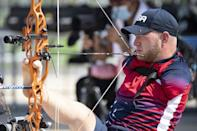 USA's Matt Stutzman who shoots with his feet has lost weight as part of his bid for a medal in Tokyo (AFP/Charly TRIBALLEAU)