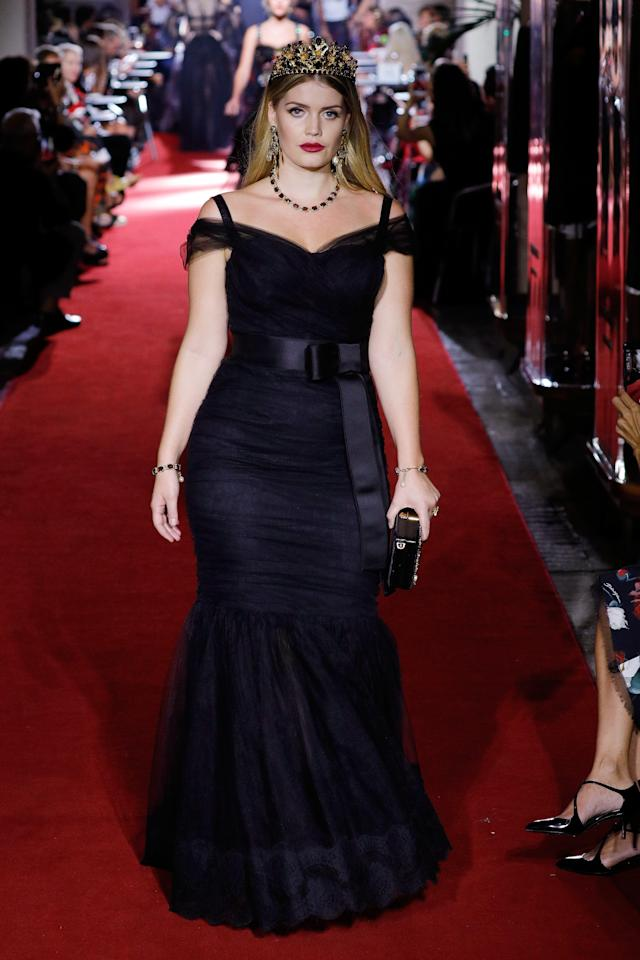 <p>Princess Diana's niece was given her own tiara to work, plus a gorgeous black gown.<br />(Photo: Getty Images) </p>