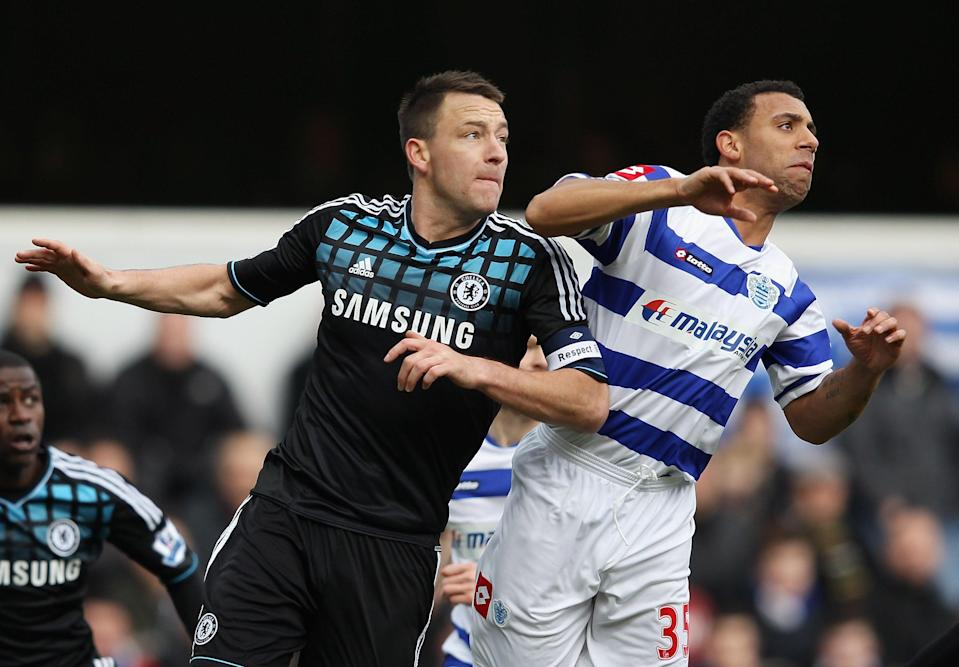 John Terry, left, and Anton Ferdinand competing for the ball (Getty Images)