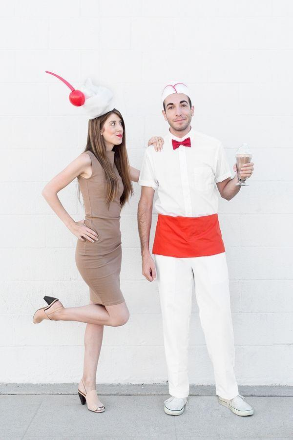 """<p>You're sure to win the most creative costume award if you show up at your party dressed as a milkshake and old-school soda jerk. </p><p><strong><em><a href=""""https://studiodiy.com/diy-milkshake-costumes/"""" rel=""""nofollow noopener"""" target=""""_blank"""" data-ylk=""""slk:Get the tutorial at Studio DIY"""" class=""""link rapid-noclick-resp"""">Get the tutorial at Studio DIY</a>. </em></strong></p>"""