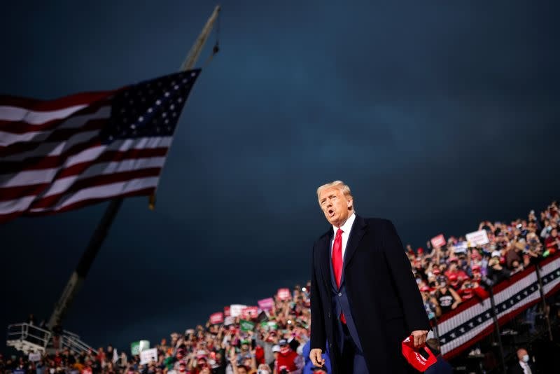 U.S. President Trump holds campaign rally in Des Moines
