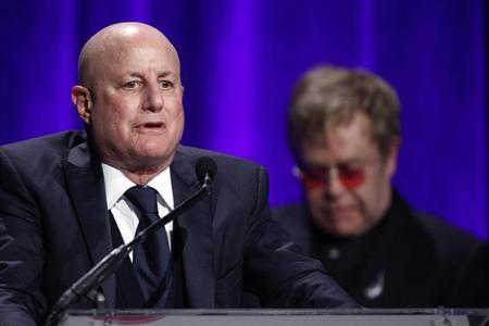 "Perelman speaks after he received his award during Elton John AIDS Foundation's 12th Annual ""An Enduring Vision"" benefit gala at Cipriani in New York"