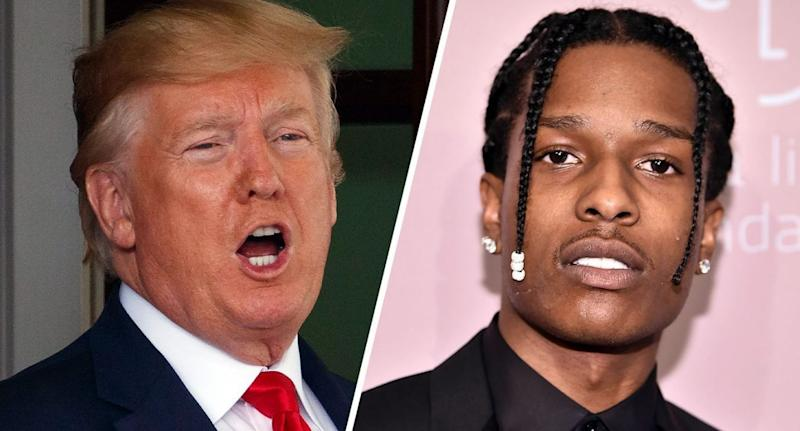 Image result for donald trump  asap rocky twitter
