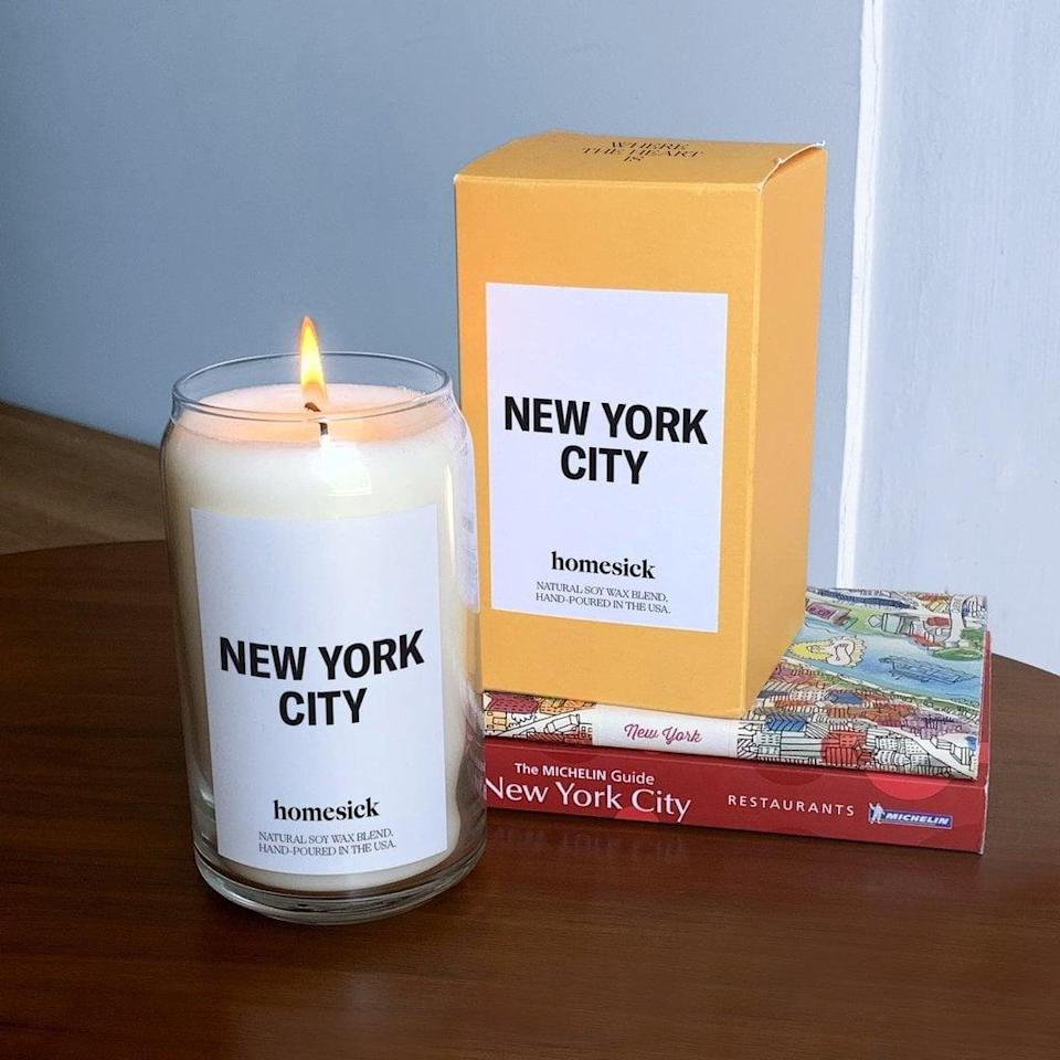 <p>The <span>New York City Candle</span> ($34) lights with the energy of this fast-paced and ever-evolving city.</p>