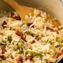 """<p>Prepare for love at first bite.</p><p>Get the <a href=""""https://www.delish.com/uk/cooking/recipes/a29982406/creamy-asparagus-bacon-risotto-recipe/"""" rel=""""nofollow noopener"""" target=""""_blank"""" data-ylk=""""slk:Creamy Asparagus & Bacon Risotto"""" class=""""link rapid-noclick-resp"""">Creamy Asparagus & Bacon Risotto</a> recipe. </p>"""