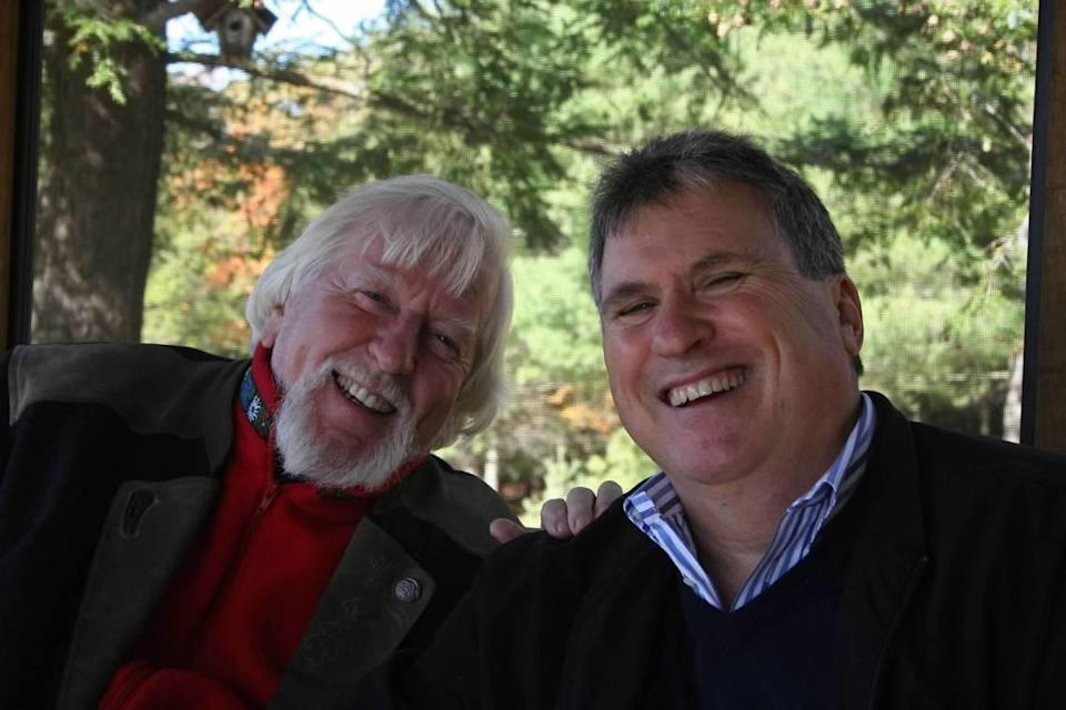 Carroll Spinney and Michael Davis, photographed at Spinney's home in Connecticut. Most famous for being the man behind Big Bird and Oscar the Grouch, Spinney died in December 2019.