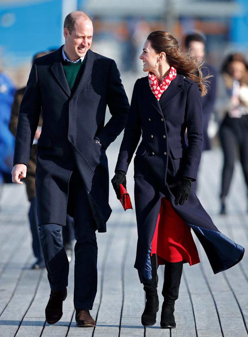 Prince William and Kate Middleton together on a royal engagement in Wales earlier this February